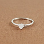 Handmade Silver Raw White Quartz April Birthstone Ring