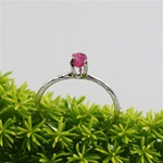 Handmade Silver Raw Ruby July Birthstone Ring