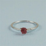 Handmade Silver Raw Pink Tourmaline October Birthstone Ring