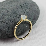 Handmade Gold Raw Aquamarine March Birthstone Ring