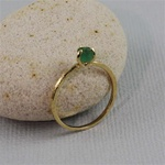 Handmade Gold Raw Emerald May Birthstone Ring