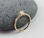 Handmade Gold Raw Moonstone June Birthstone Ring