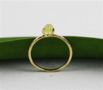 Handmade Gold Raw Peridot August Birthstone Ring