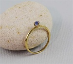 Handmade Gold Raw Blue Sapphire September Birthstone Ring