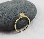 Handmade Gold Raw Citrine November Birthstone Ring
