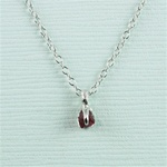 Handmade Silver Raw Garnet January Birthstone Necklace