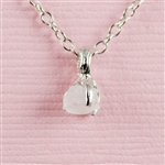 Handmade Silver Raw Moonstone June Birthstone Necklace