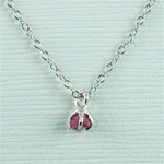 Handmade Silver Raw Ruby July Birthstone Necklace