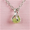 Handmade Silver Raw Peridot August Birthstone Necklace