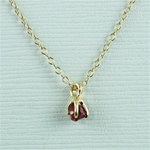 Handmade Gold Raw Garnet January Birthstone Necklace
