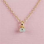 Handmade Gold Raw Aquamarine March Birthstone Necklace