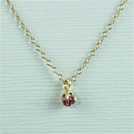 Handmade Gold Raw Ruby July Birthstone Necklace