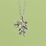 Handmade Sterling silver Green Amethyst Floral Necklace