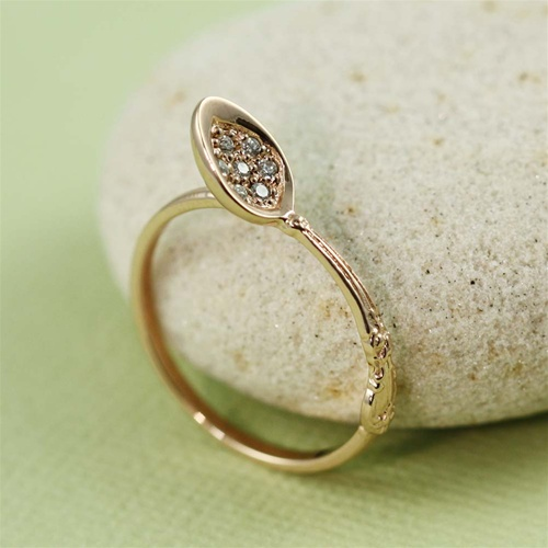 64b12851e5651 Handmade Pink Gold Stacking Fork and Spoon Ring