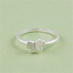 Silver Butterfly Stackable Ring
