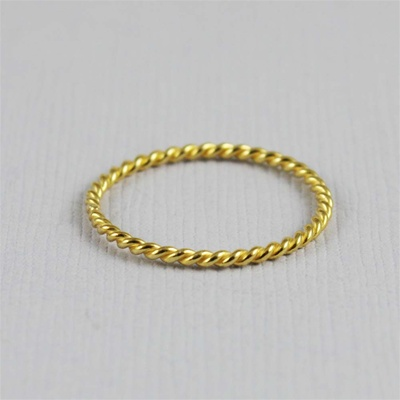 Gold Twisted Stackable Ring