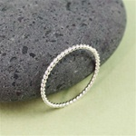 Silver Twisted Stackable Ring