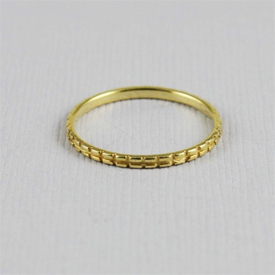 Gold Channel Stackable Ring