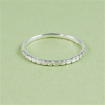 Silver Channel Stackable Ring