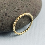 Gold Beaded Stackable Ring