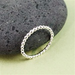 Silver Beaded Stackable Ring