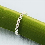 Silver Mesh Stackable Ring