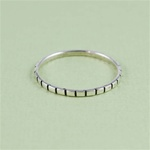 Silver Rectangular Stackable Ring