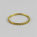 Gold Rectangular Stackable Ring
