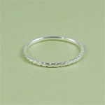 Silver Diamond Shape Stackable Ring
