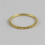 Gold Diamond Shape Stackable Ring