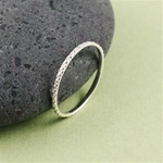 Silver Dotted Stackable Ring