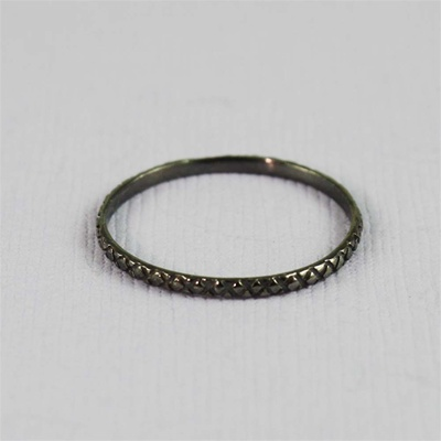 Black Dotted Stackable Ring