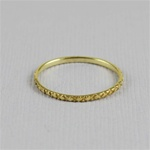 Gold Dotted Stackable Ring