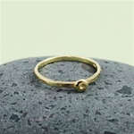 Gold Flower Bud Stackable Ring