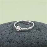 Silver Peace Sign Stackable Ring