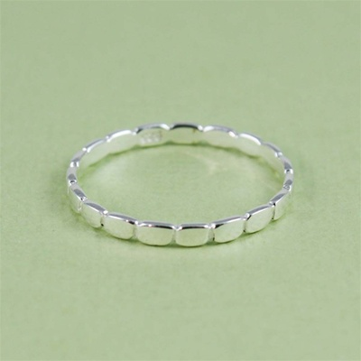 Silver Oval Stackable Ring