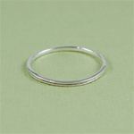 Silver Tiny Channel Stackable Ring