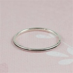 Silver Black Channel Stackable Ring