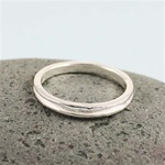 Silver Channel Band Ring