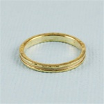 Gold Channel Band Ring