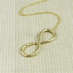Hammered Large Gold Infinity Necklace