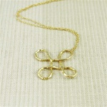 Hammered Large Gold Knot Necklace