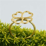 Hammered Gold Clover Rings
