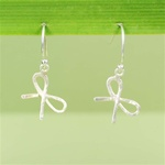 Hammered Silver Bow Earrings