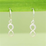 Hammered Silver Infinity Earrings