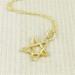 Hammered Gold Star Necklace