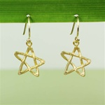 Hammered Gold Star Earrings