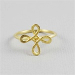 Hammered Gold Knot Ring