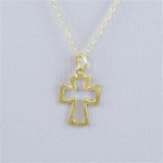Hammered Gold Cross Necklace