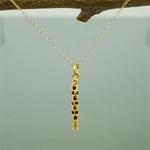 Gold Stone on Stick Necklace